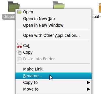 rename folder drupal