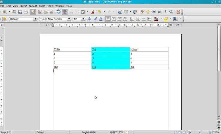 membuat tabel di wordpress dengan openoffice word