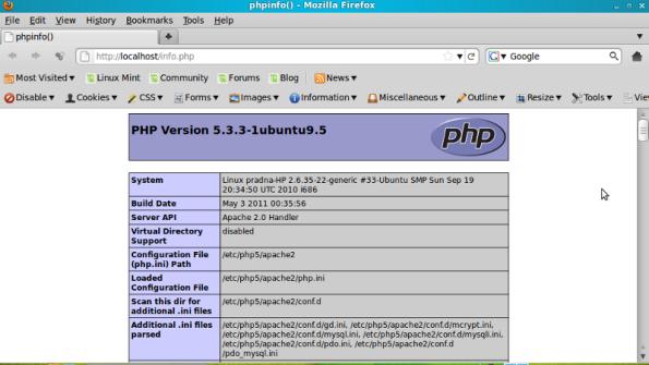 php.info pada install lamp di ubuntu