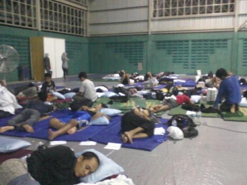 Tidur di Camp Blogger Nusantara