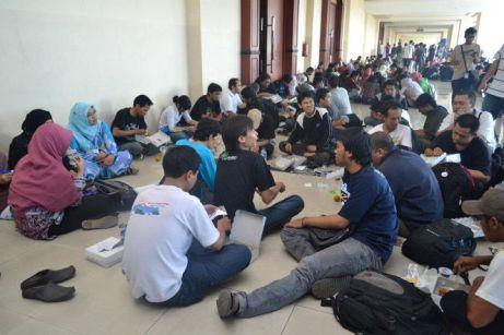 Makan Siang di acara seminar Blogger Nusantara
