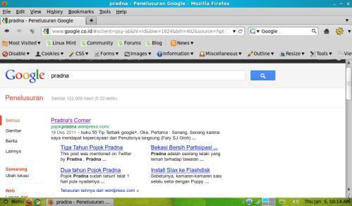 sitelink google pojok pradna