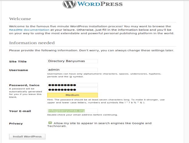install wordpress ubuntu