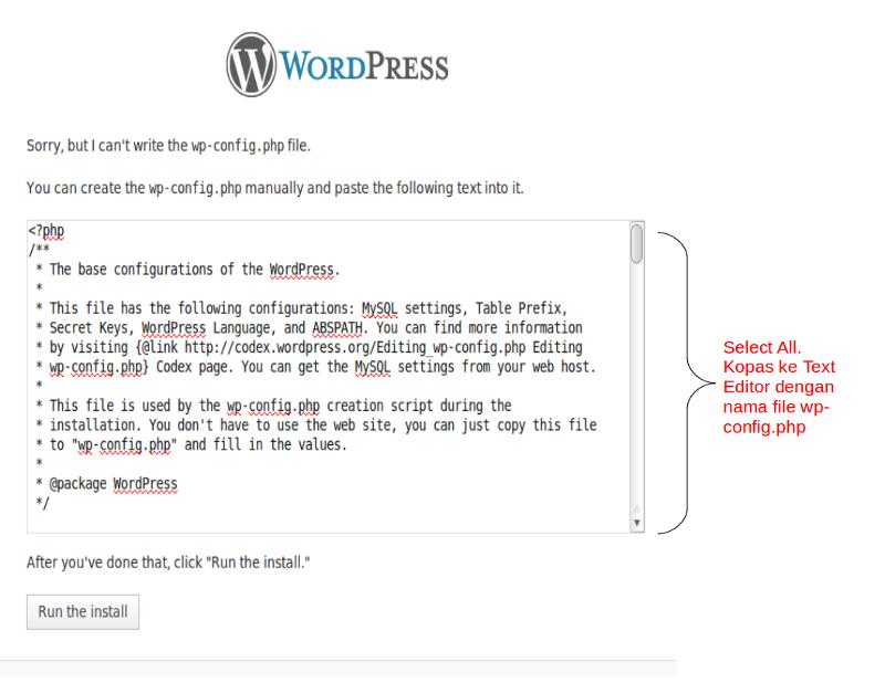 Install Wordpress di Ubuntu (2/3)