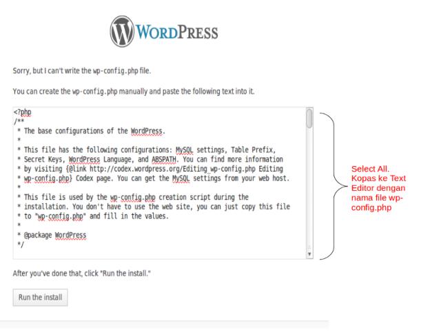 wp_config wordpress di ubuntu