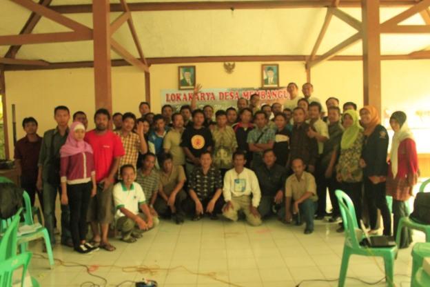 peserta lokakarya desa membangun, desa beji, banyumas