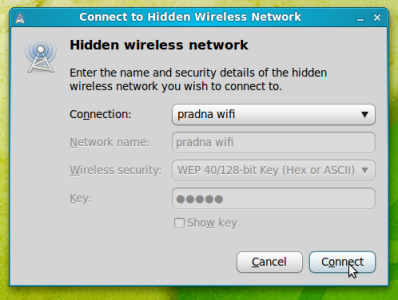 connect to hidden wireless network linux mint