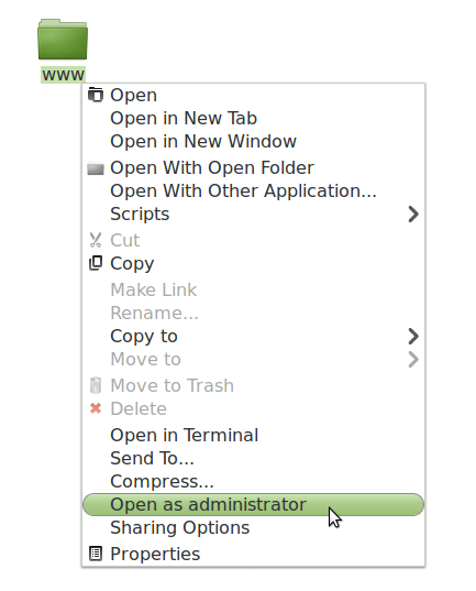 install cms lokomedia di localhost linux mint