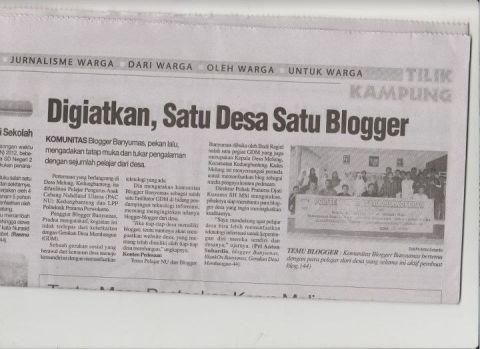 blogger banyumas di harian suara merdeka