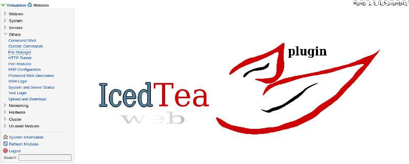 error file manager iced tea webmin di linux
