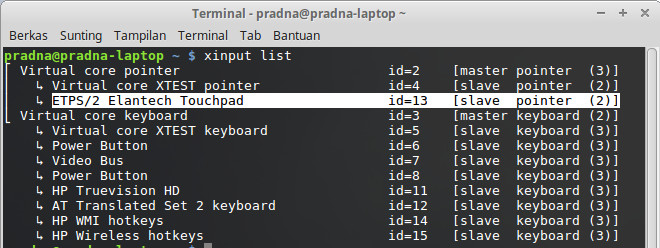 mengatasi touchpad sensitif di linux mint